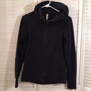 LuLuLemon 2 Black Zip Front Scooba Hoodie Jacket